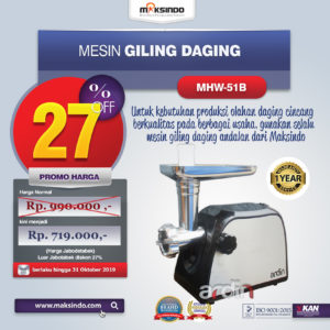 Jual Mesin Giling Daging (Meat Grinder) MHW-G51B di Malang