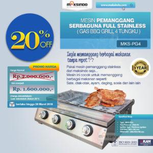 Jual Pemanggang Serbaguna – Gas BBQ Grill 4 Tungku di Malang