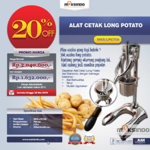 Jual Alat Cetak Long Potato MKS-LPCT50 di Malang