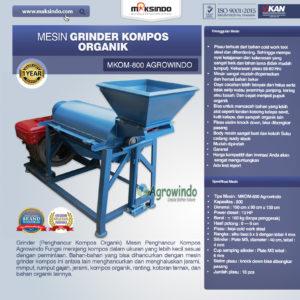 Jual Mesin Grinder Kompos Organik di Malang
