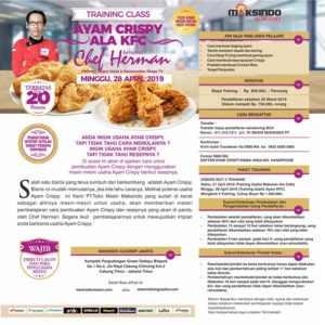 Training Class Ayam Crispy Ala KFC, Minggu 28 April 2019