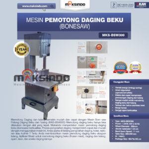 Jual Mesin Mesin Bonesaw Potong Daging Beku dan Tulang (MKS-BSW300) di Malang