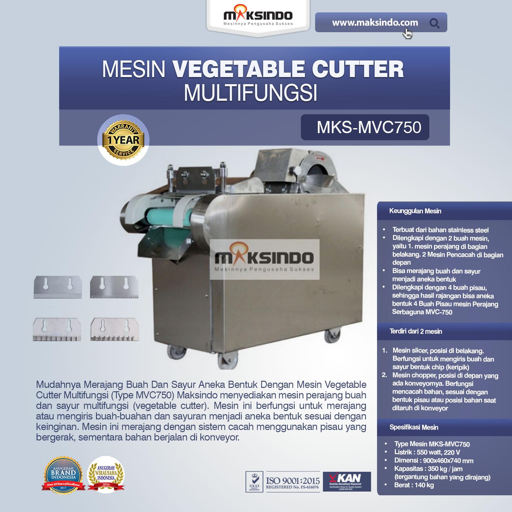 Jual Mesin Vegetable Cutter Multifungsi (Type MVC750) di Malang