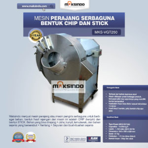 Jual Mesin Perajang Serbaguna Bentuk Chip dan Stick – MKS-VGT250 di Malang