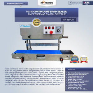 Jual Mesin Band Sealer (Continuous Sealer) di Malang