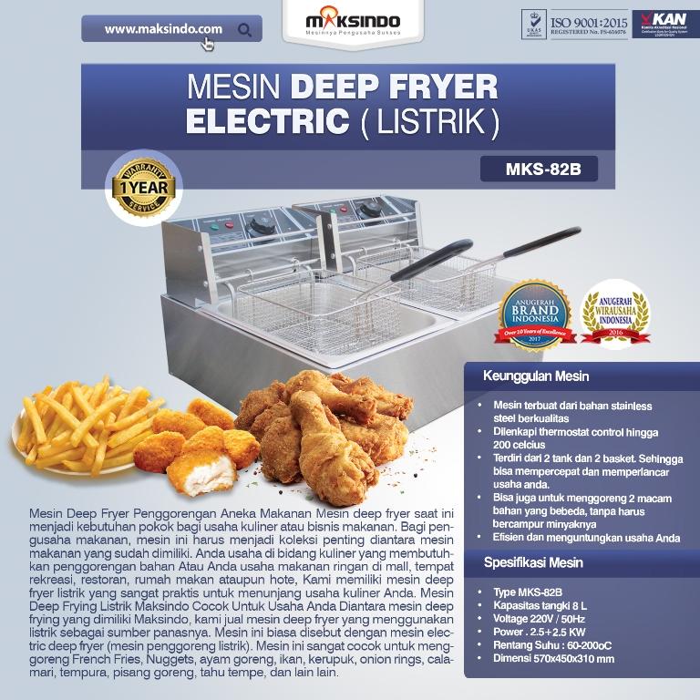 Jual Electric Fryer Listrik MKS-82B di Malang