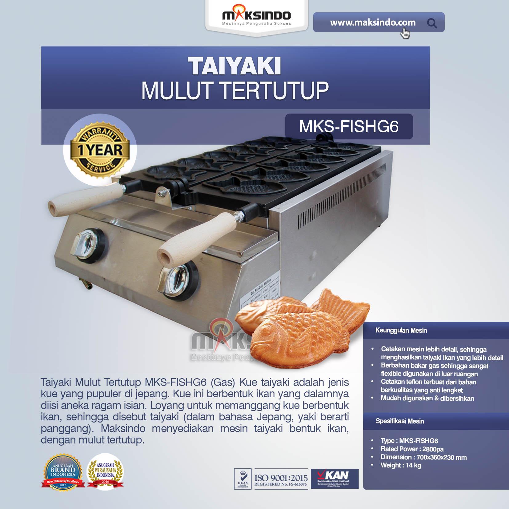 Taiyaki Mulut Tertutup (Gas) MKS-FISHG6