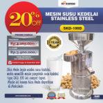 Jual Mesin Susu Kedelai Stainless (SKD-100B) di Malang