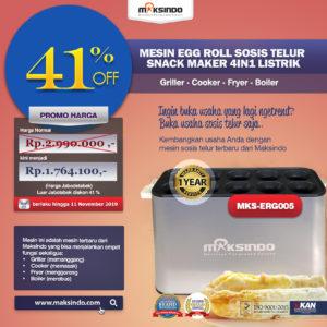 Jual Mesin Egg Roll Sosis Telur Snack Maker 4in1 Listrik di Malang