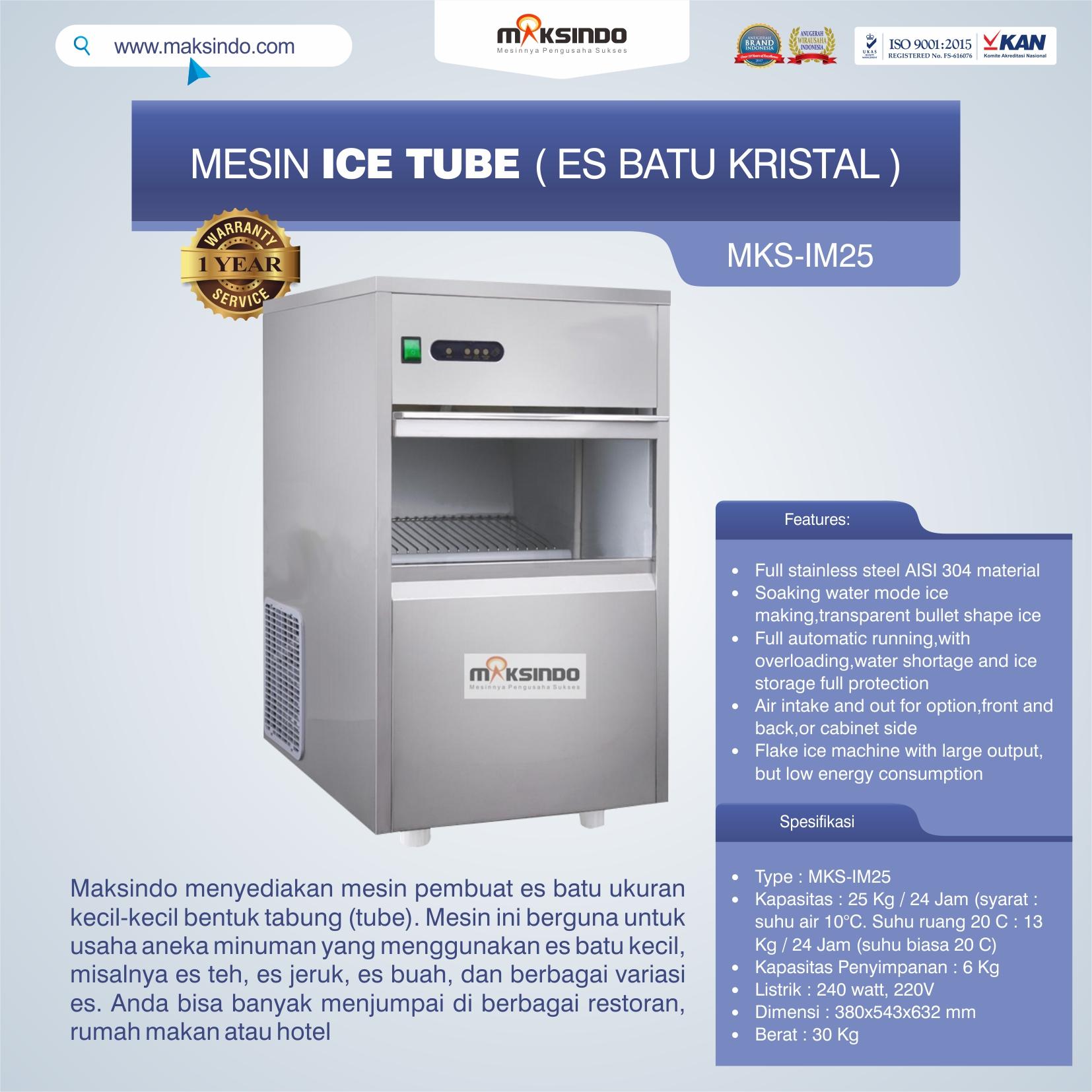 Jual Mesin Ice Tube (Es Batu Kristal) di Malang