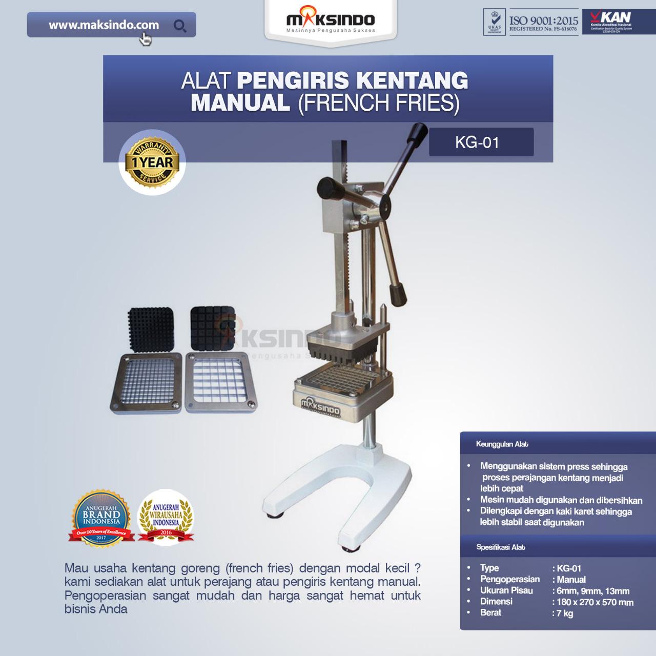 Jual Alat Pengiris Kentang Manual (french fries) di Malang