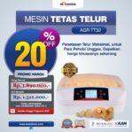 Jual Mesin Penetas Telur 32 Butir (AGR-TT32) di Malang