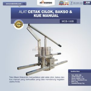 Jual Alat Cetak Cilok, Bakso dan Kue Manual di Malang