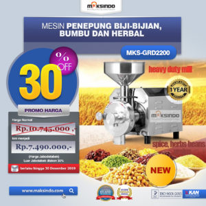 Jual Mesin Penepung Biji-Bijian, Bumbu dan Herbal (GRAIN GRINDER) di Malang