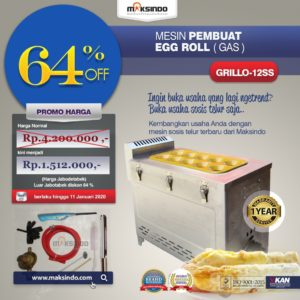 Jual Mesin Pembuat Egg Roll (Gas) GRILLO-12SS di Malang