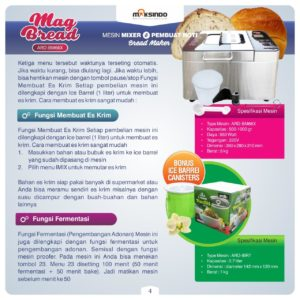 Jual Pembuat Roti (Bread Maker) ARD-BM66X di Malang