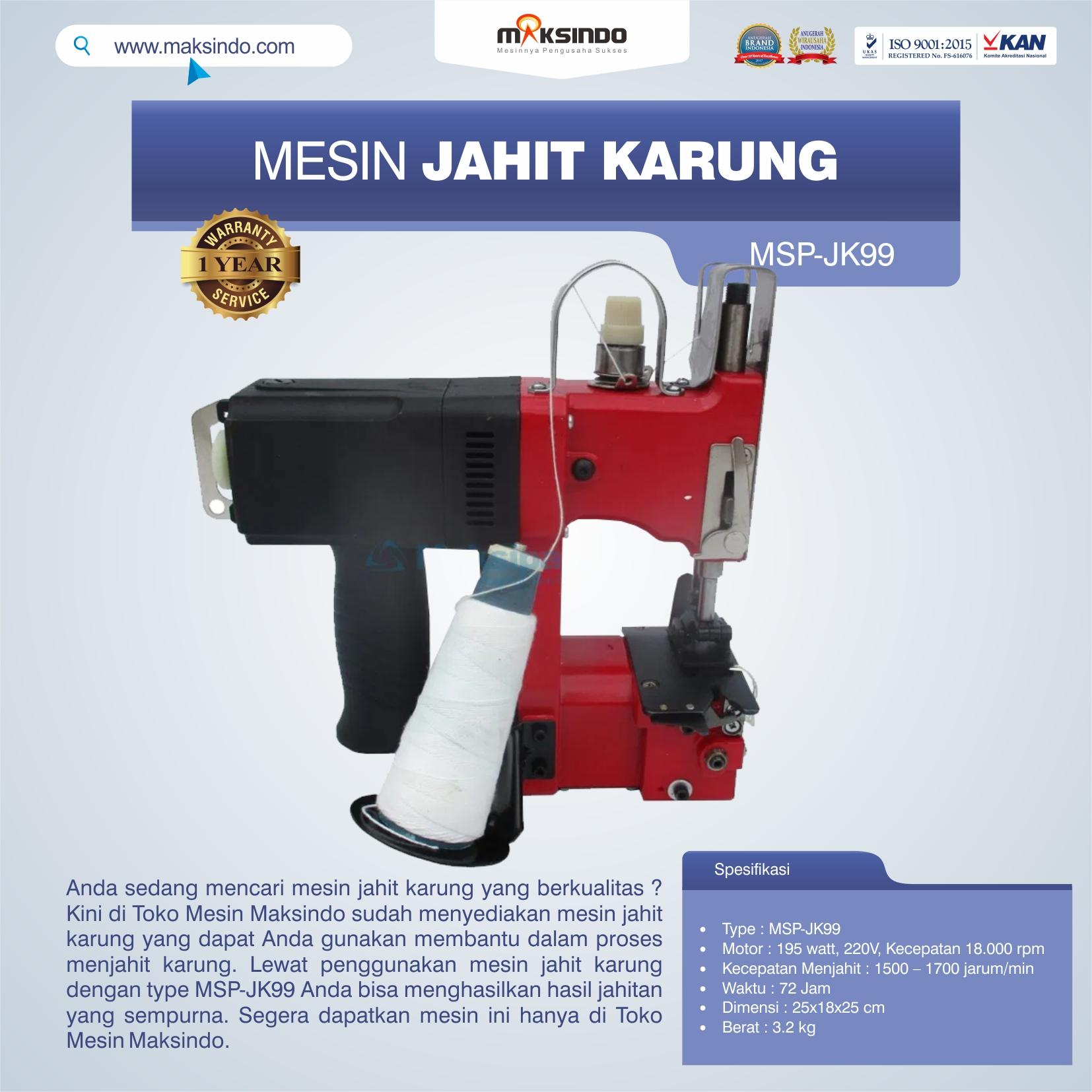 Jual Mesin Jahit Karung MSP-JK99 di Malang