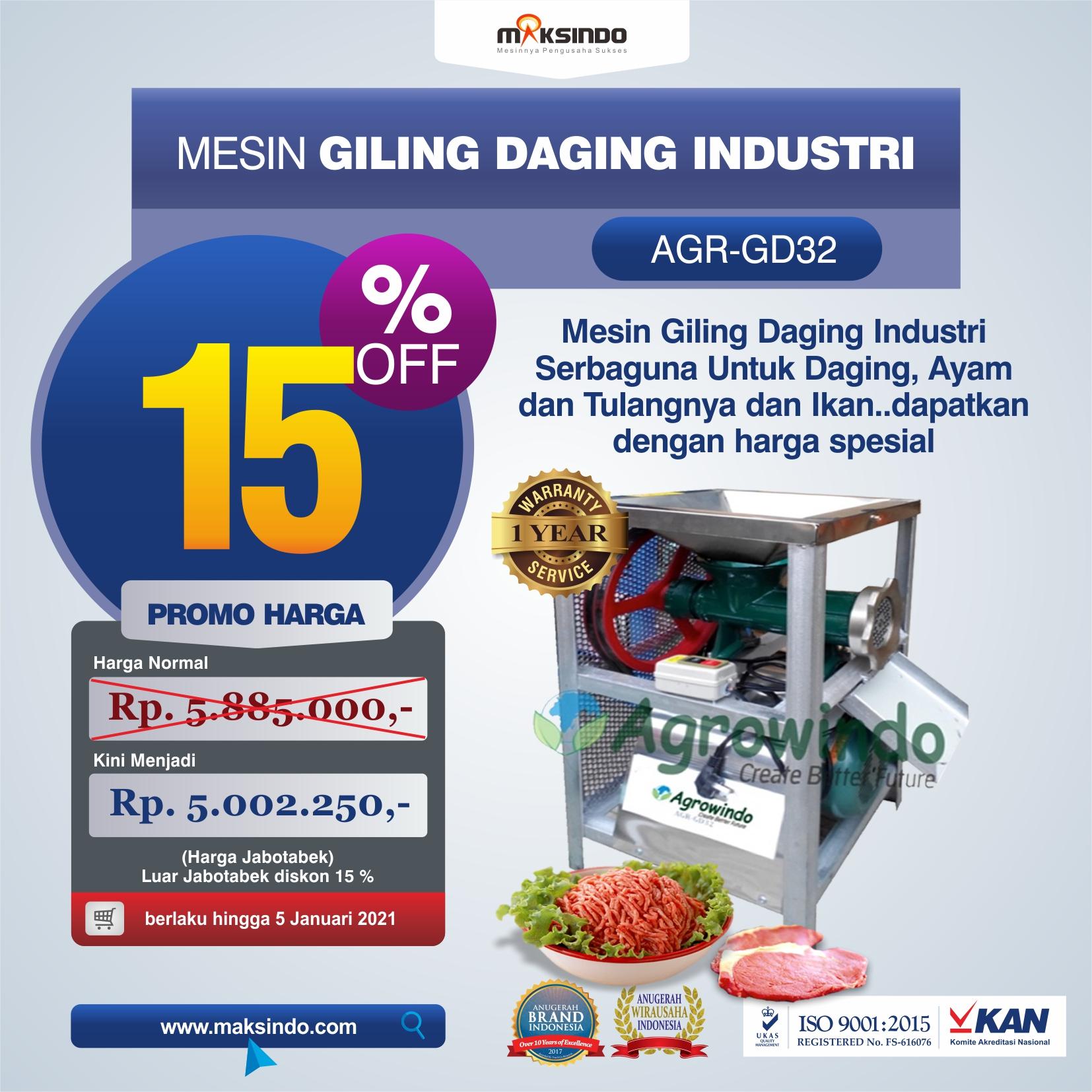Jual Mesin Giling Daging Industri (AGR-GD32) di Malang