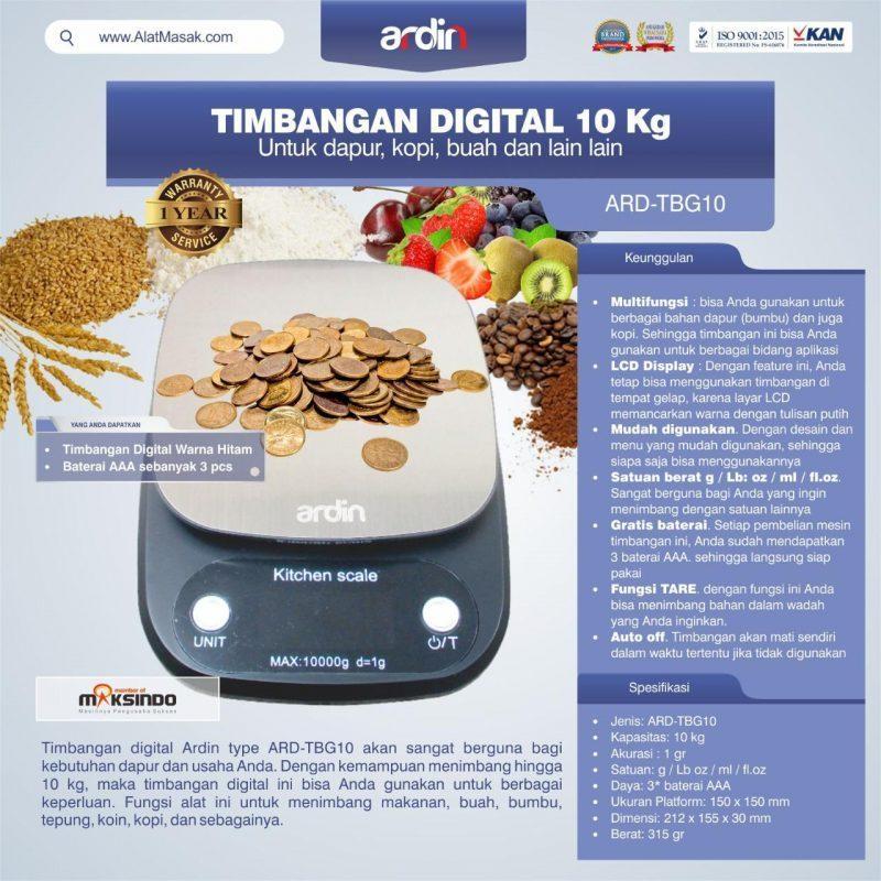 Jual Timbangan Digital 10 kg / Timbangan Kopi ARD-TBG10 di Malang