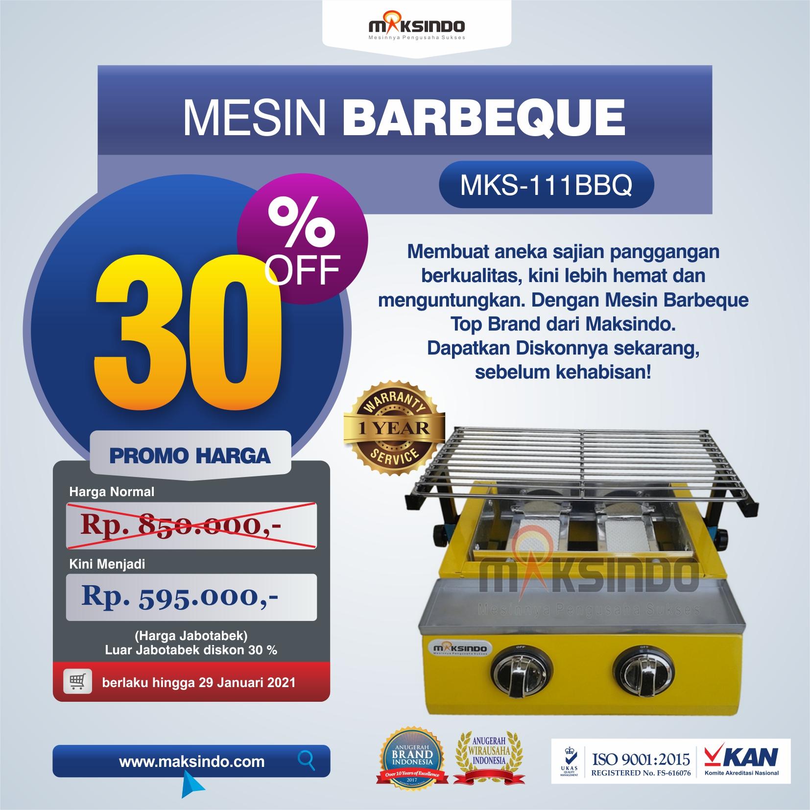 Jual Mesin Pemanggang Sate – BBQ 2 Tungku (Gas) di Malang