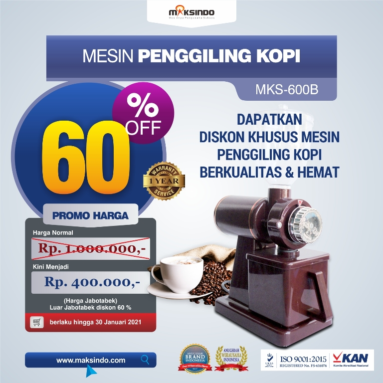 Jual Mesin Penggiling Kopi (MKS-600B) di Malang