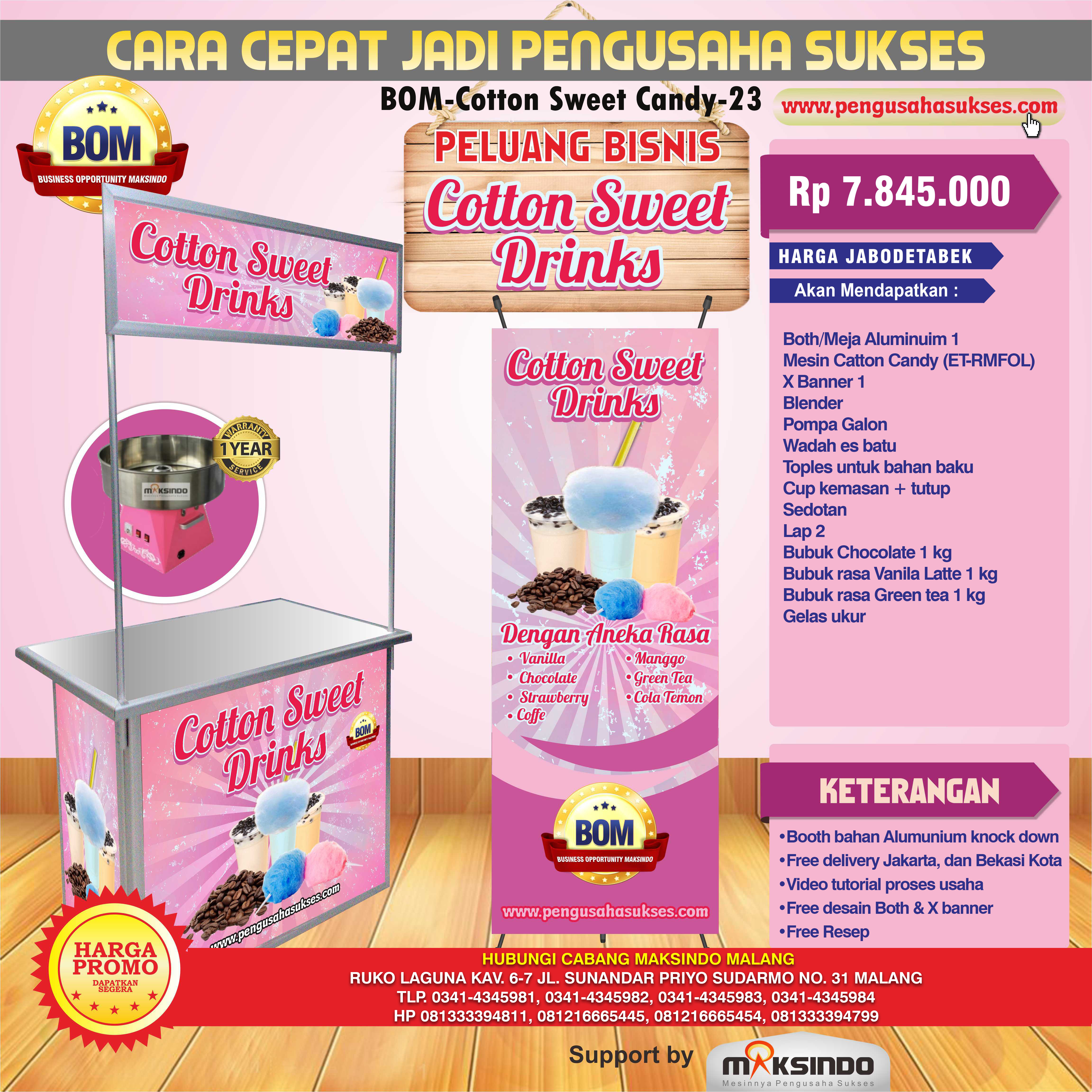 Paket Usaha Catton Sweet Drinks Program BOM