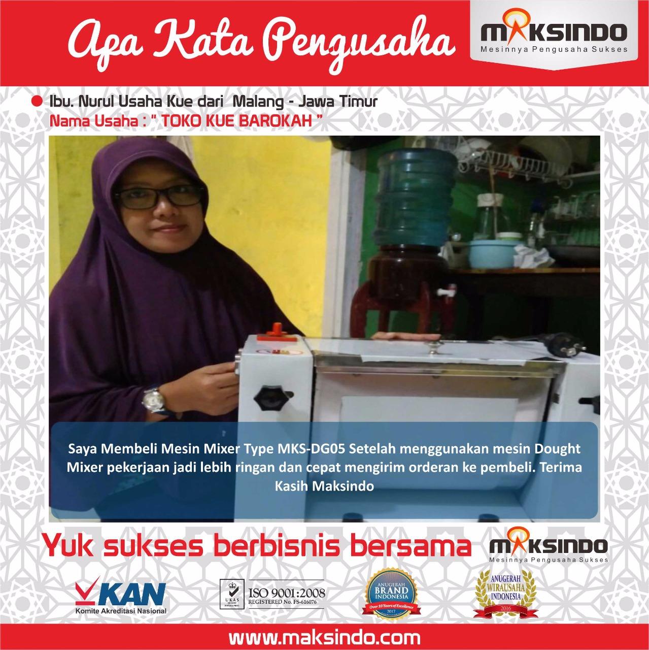 Toko Kue Barokah : Usaha Saya Lebih Ringan Dan Cepat dengan Mesin Dough Mixer Maksindo