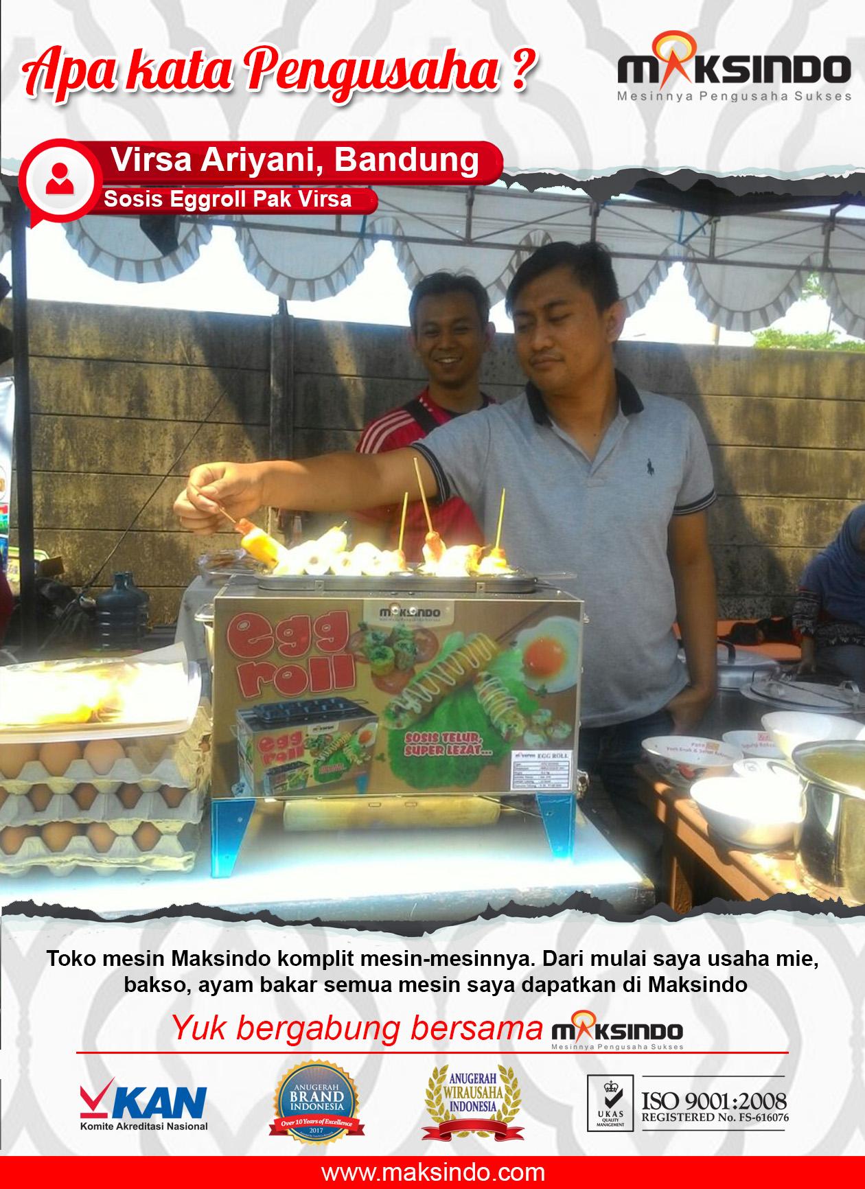 Sosis Eggroll Pak Virsa : Maksindo Menyediakan Mesin Komplit Untuk Usaha