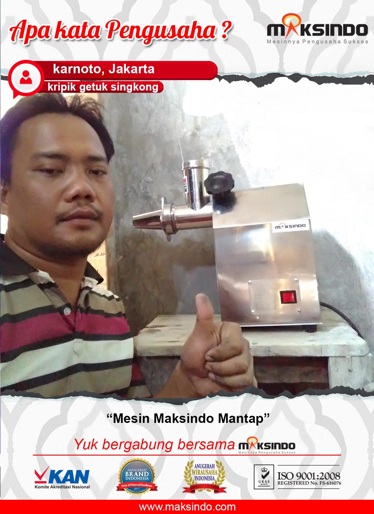 Kripik Getuk Singkong : Mesin Maksindo Mantap