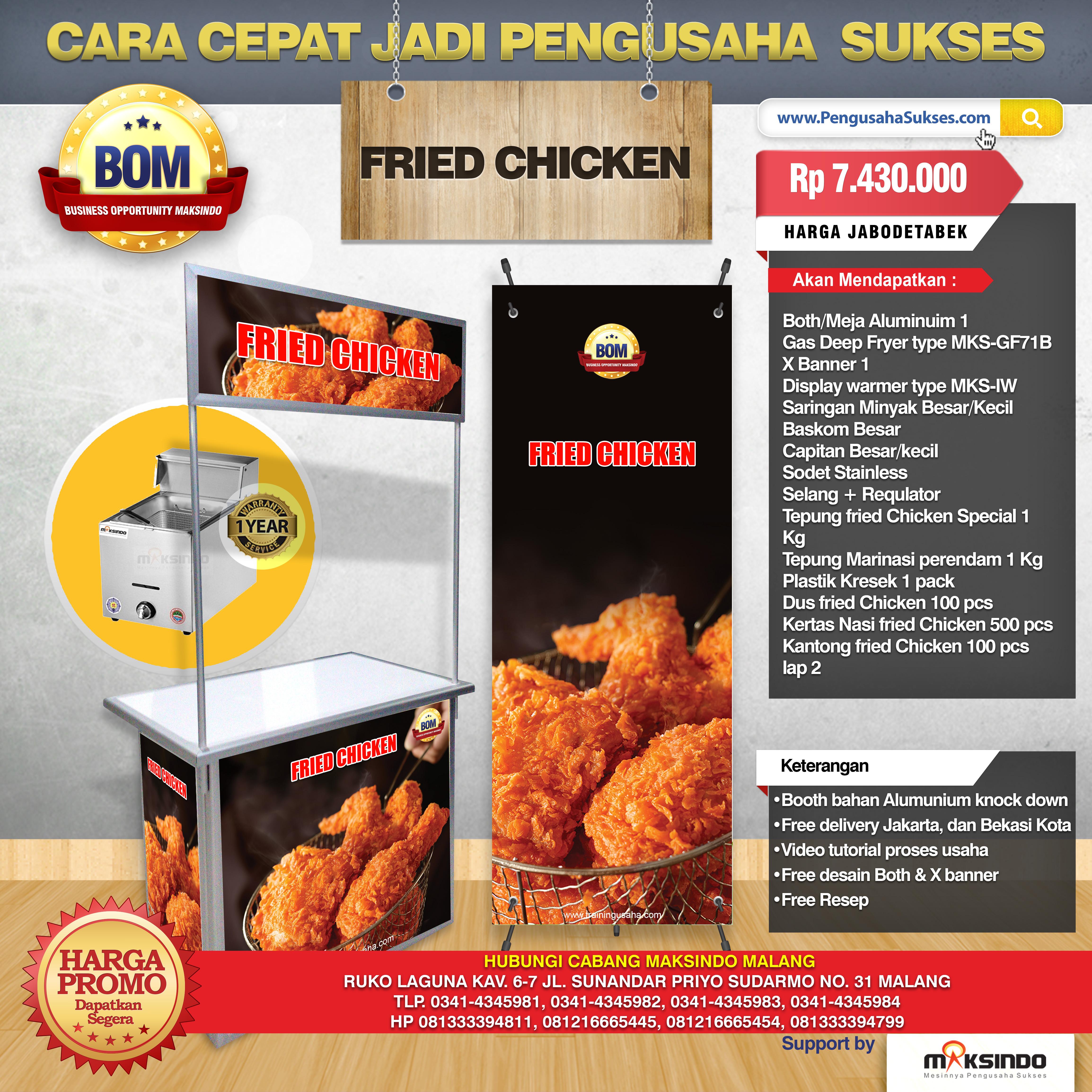 Paket Usaha Fried Chicken Program BOM