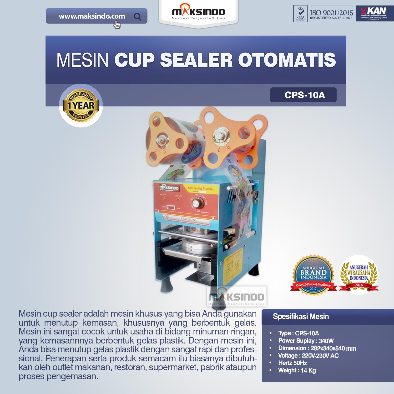 Jual Mesin Cup Sealer Otomatis (CPS-10A) di Malang