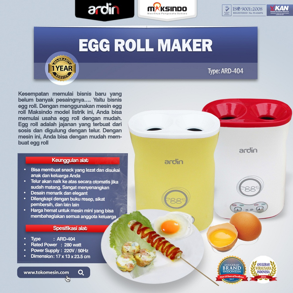 Jual Egg Roll Maker ARD-404 di Malang