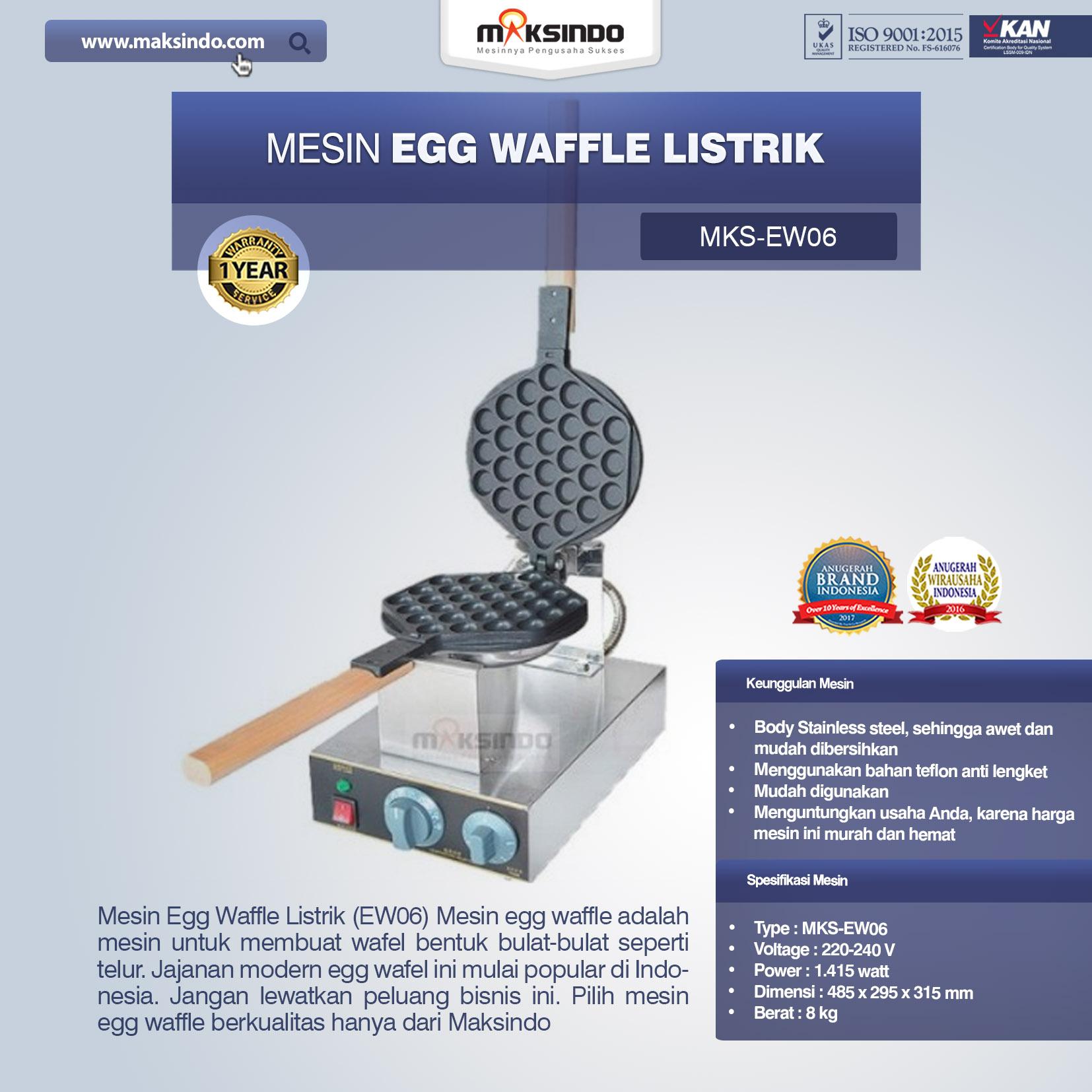 Jual Mesin Egg Waffle Listrik (EW06) di Malang