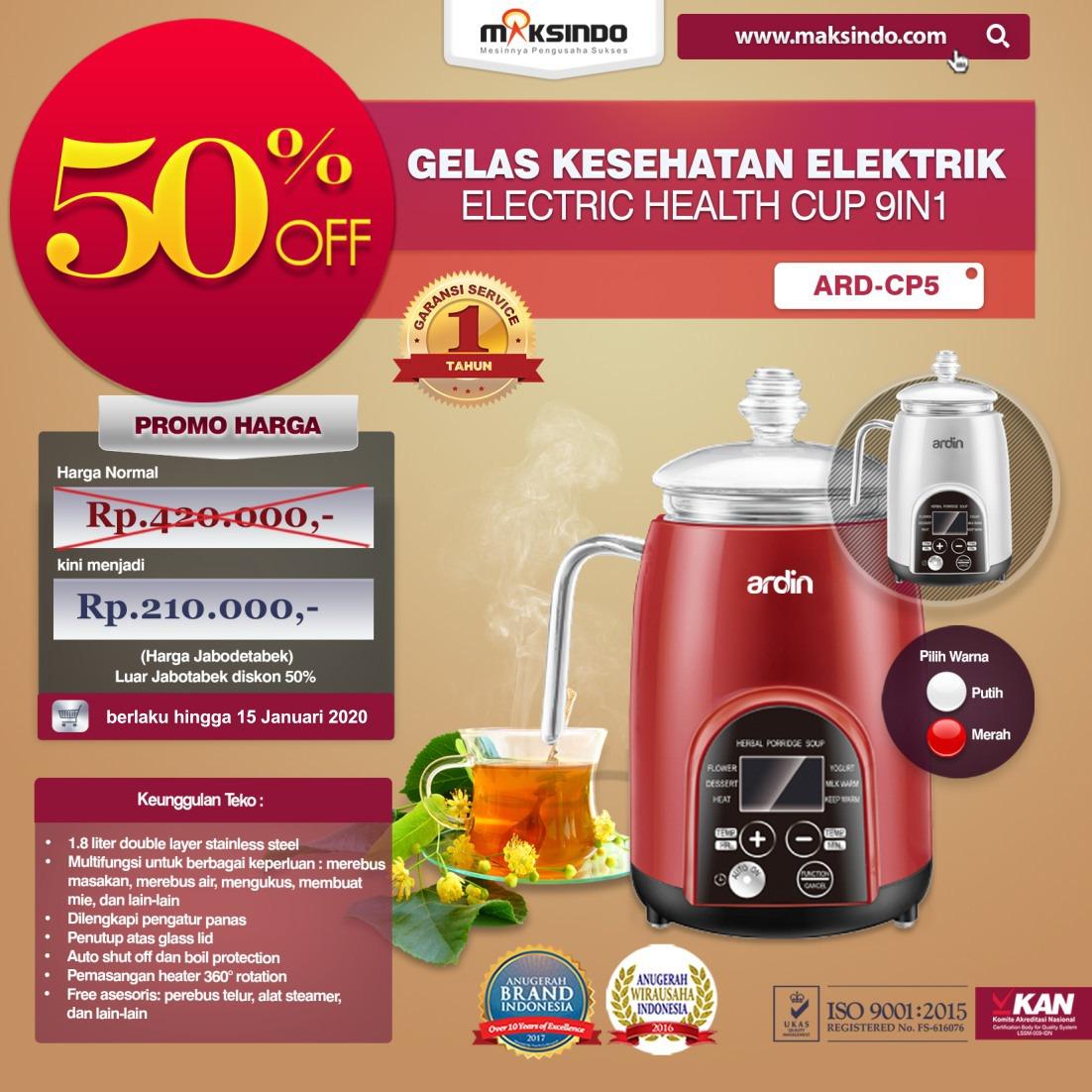 Jual Gelas Kesehatan Elektrik (Electric Cup Health) ARD-CP5 di Malang