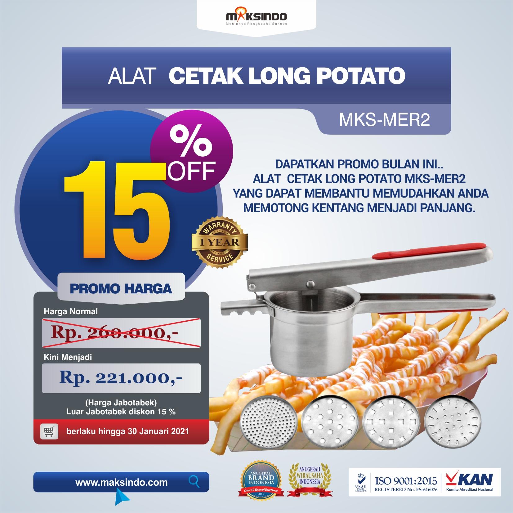 Jual Alat Cetak Long Potato MKS-MER2 di Malang