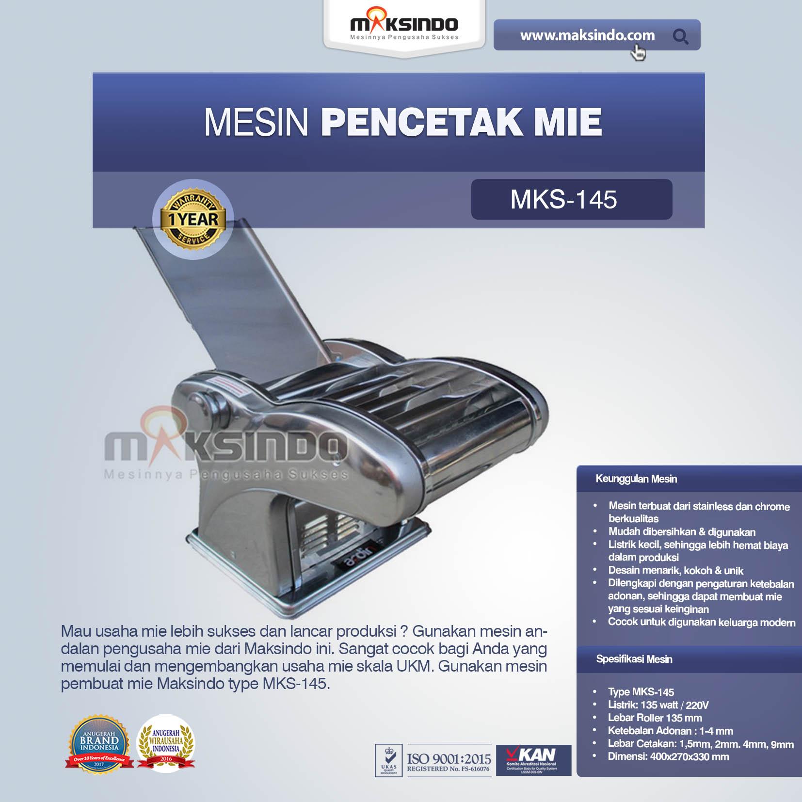 Jual Mesin Cetak Mie (MKS-145) di Malang