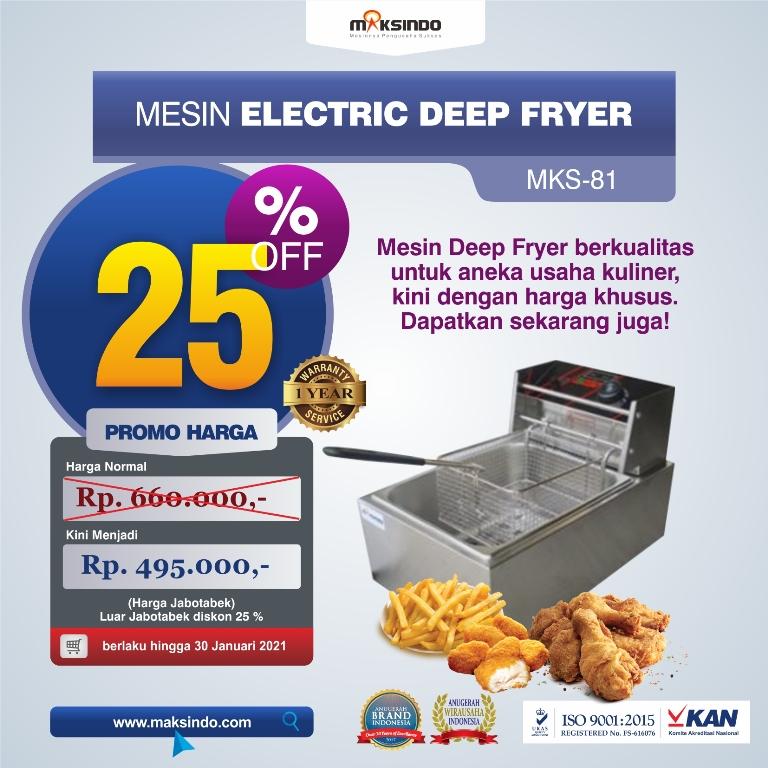 Jual Mesin Deep Fryer Listrik MKS-81B di Malang