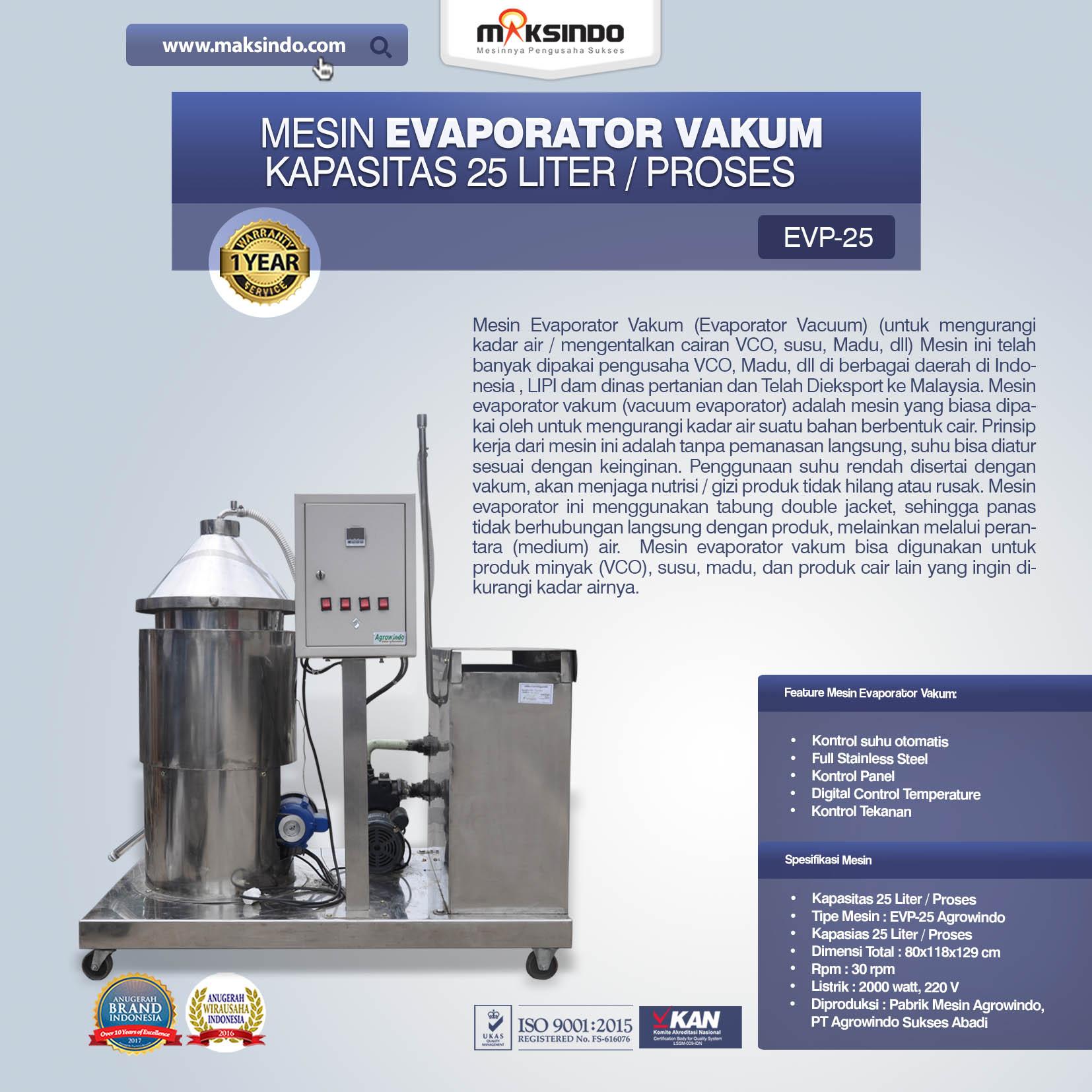 Jual Mesin Evaporator Vakum di Malang