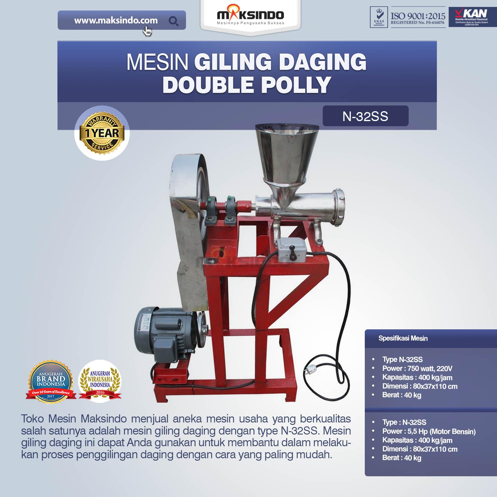 Jual Mesin Giling Daging Double Polly N-32SS di Malang