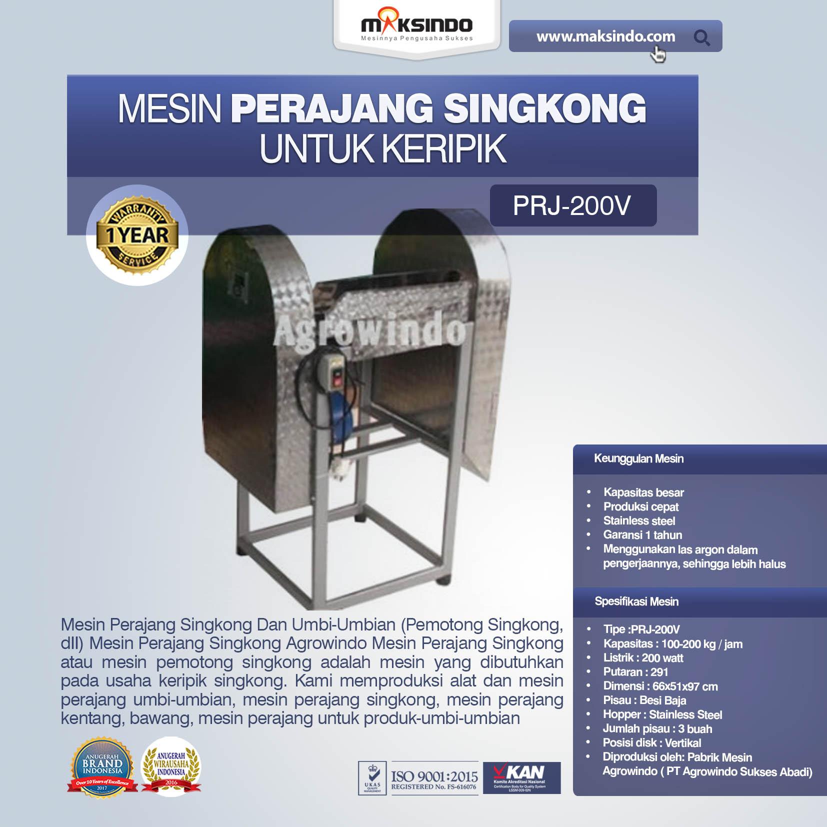 Jual Mesin Perajang Singkong Untuk Keripik di Malang