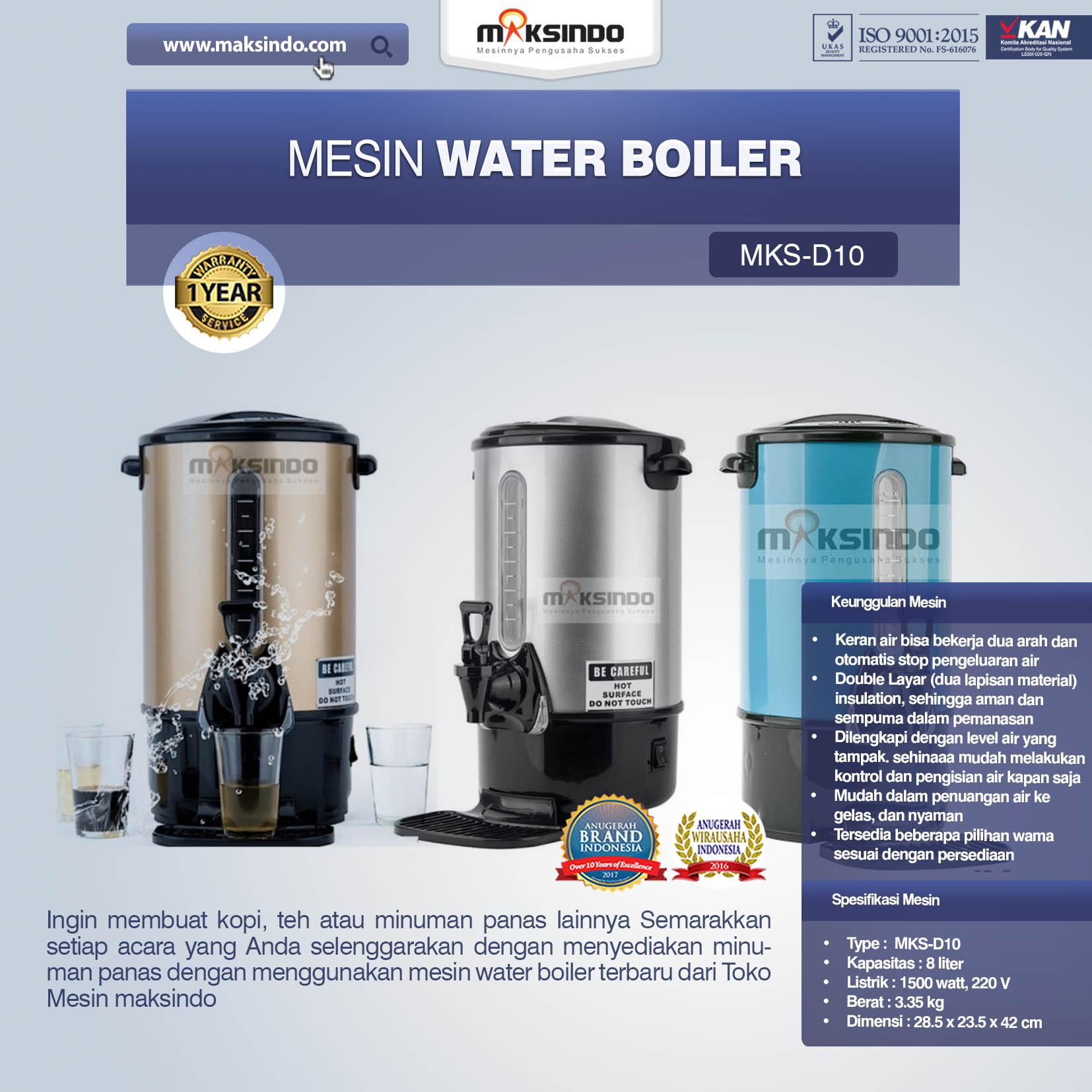 Jual Mesin Water Boiler New Model di Malang