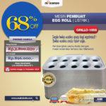Jual Mesin Pembuat Egg Roll (Listrik) GRILLO-10SS di Malang