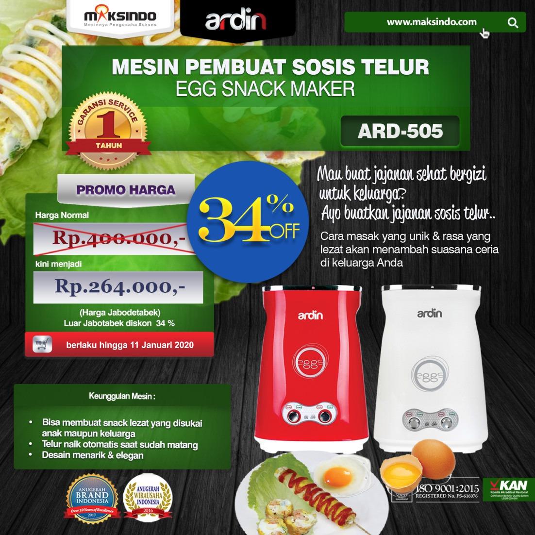 Jual Mesin Sosis Telur 2 Lubang ARDIN ARD-505 di Malang