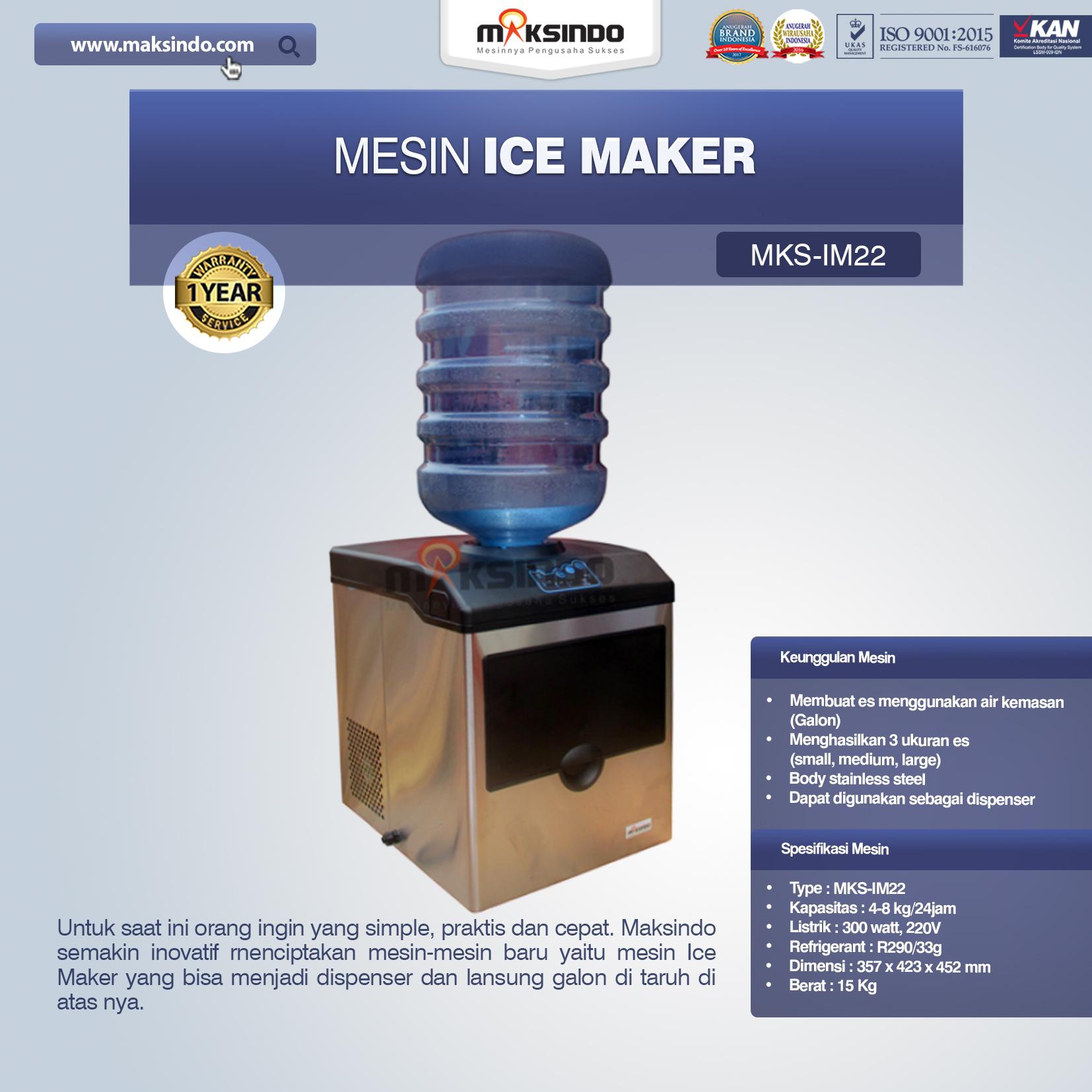 Jual Mesin Ice Maker MKS-IM22 di Malang