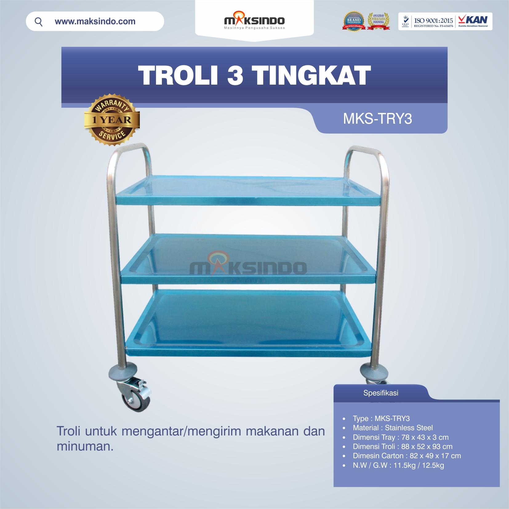 Jual Troli 3 Tingkat MKS-TRY3 di Malang