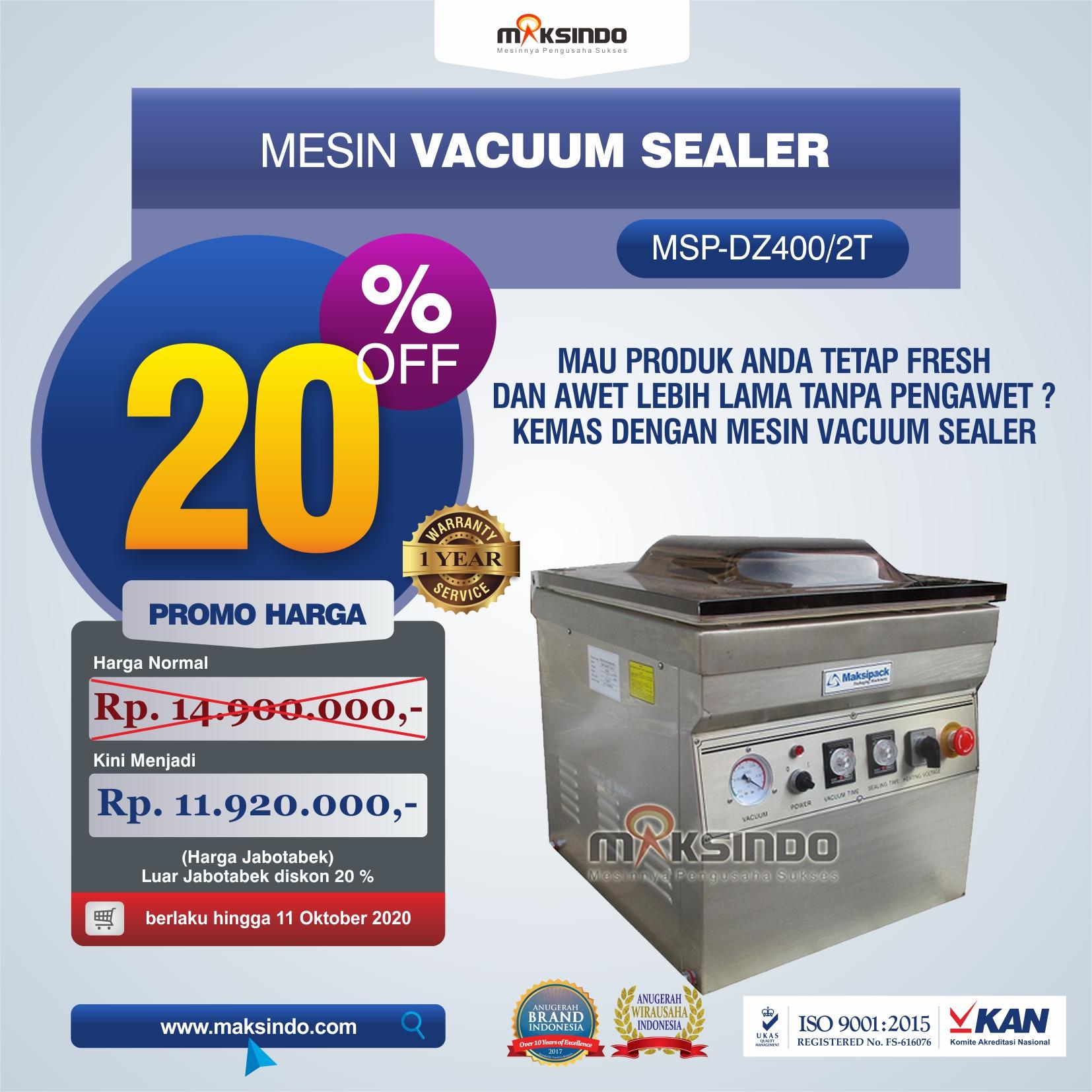 Jual Vacuum Sealer MSP-DZ400/2T Di Malang