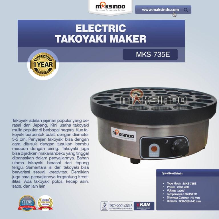 Jual Electric Takoyaki Maker MKS-735E Di Malang