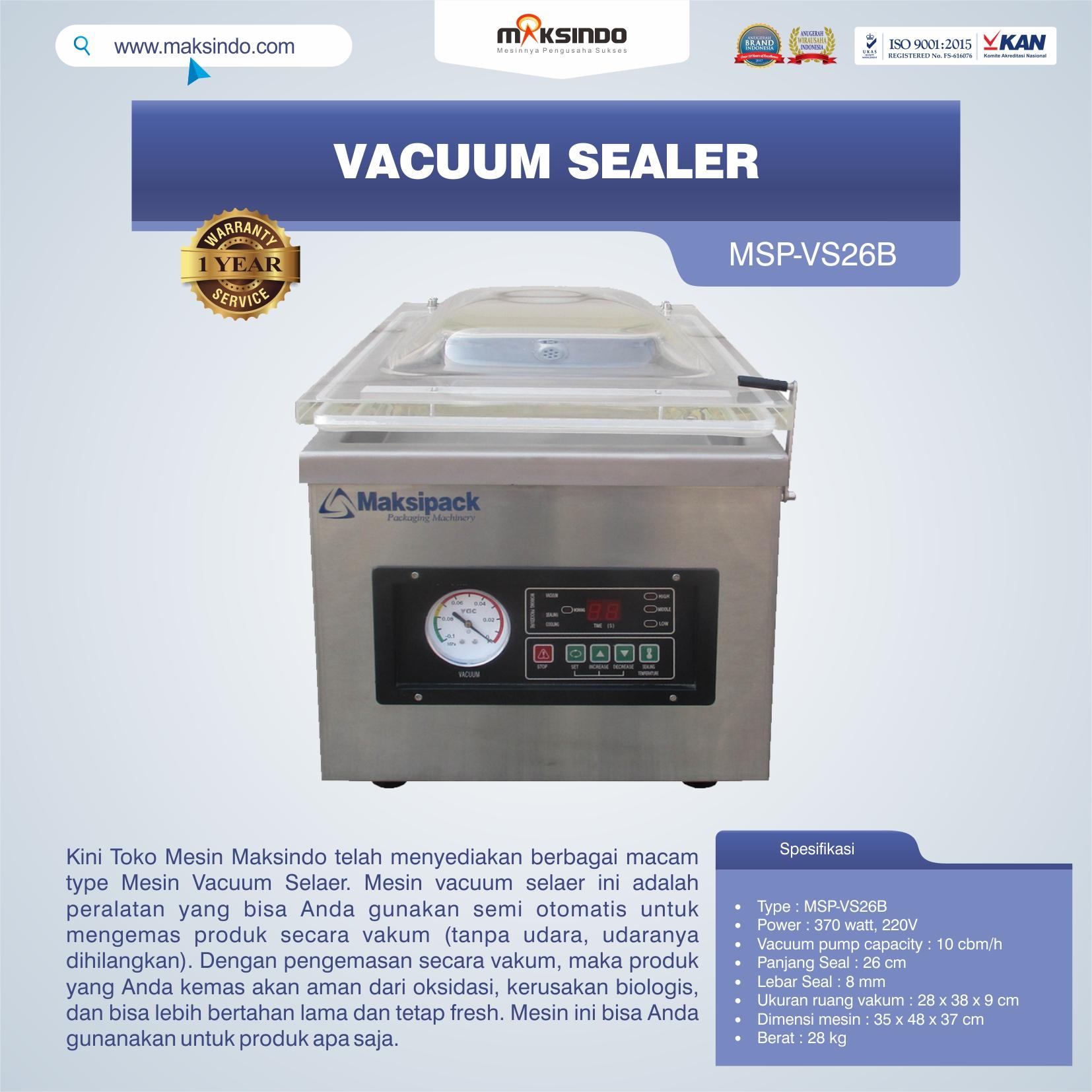 Jual Vacuum Sealer MSP-VS26B di Malang