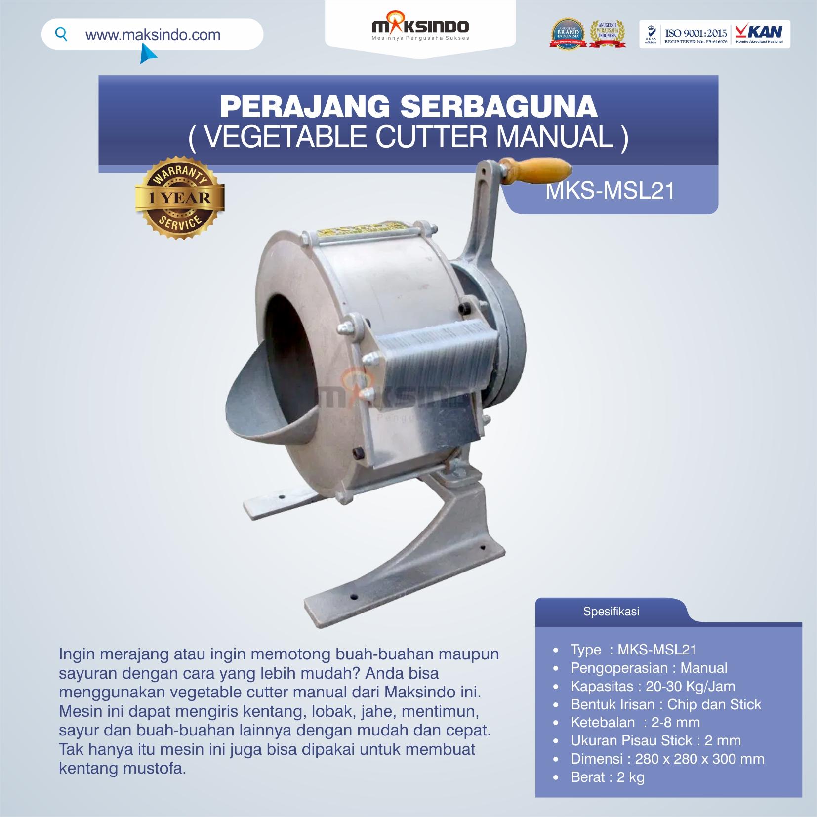 Jual Perajang Serbaguna (Vegetable Cutter Manual) MKS-MSL21 di Malang