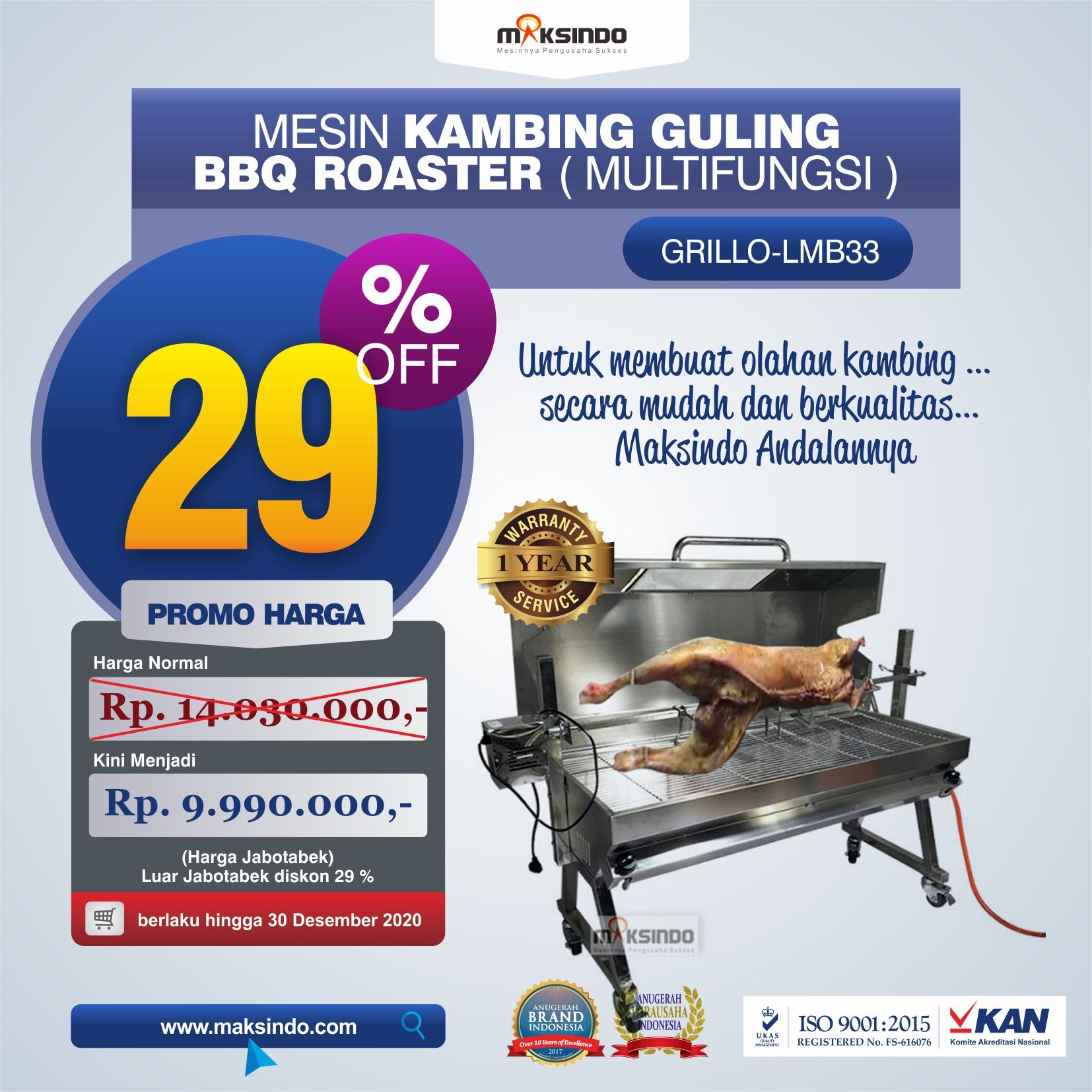 Jual Mesin Kambing Guling BBQ Roaster (GRILLO-LMB33) di Malang